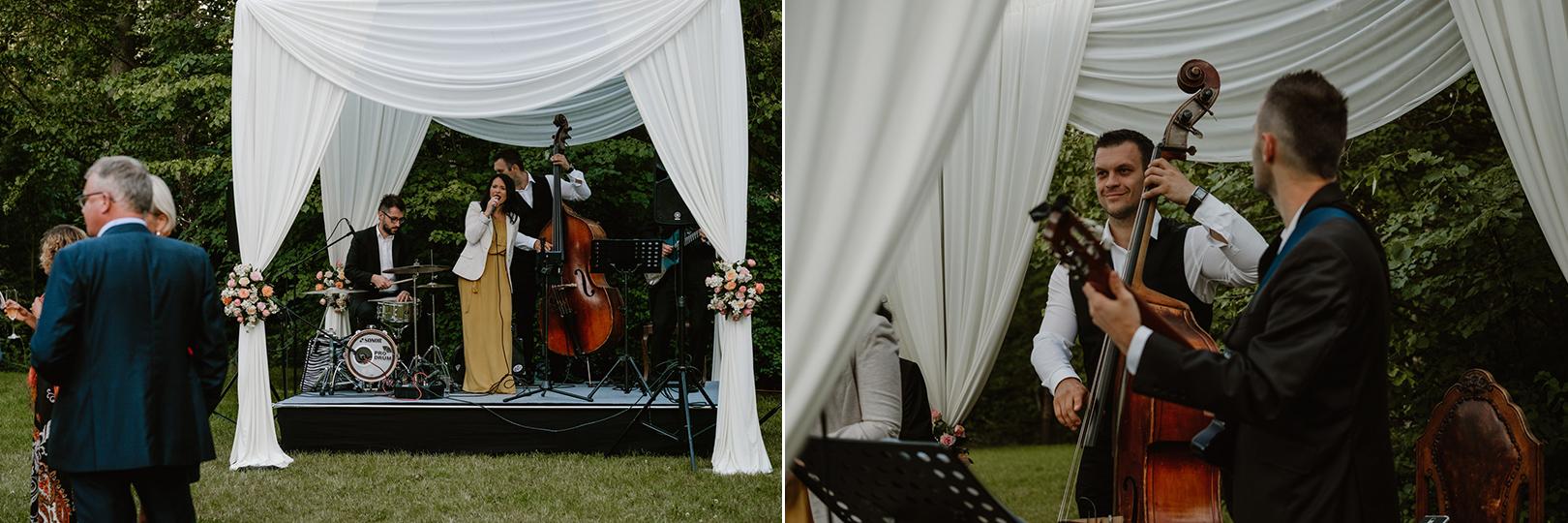 przyjęcie ślubne w ogrodzie